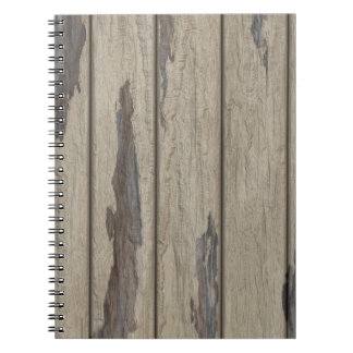Modelo de madera resistido del grano cuaderno