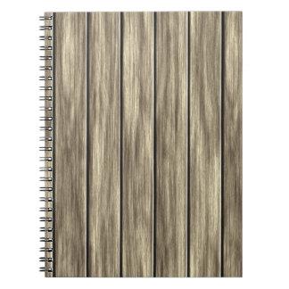 Modelo de madera resistido del tablero libreta
