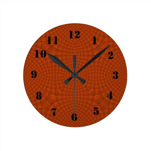 Modelo de madera rojizo relojes