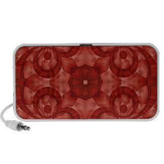 Modelo de madera rojo abstracto notebook altavoz