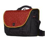 Modelo de madera rojo abstracto bolsas para portatil