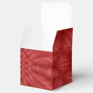 Modelo de madera rojo abstracto caja para regalo de boda