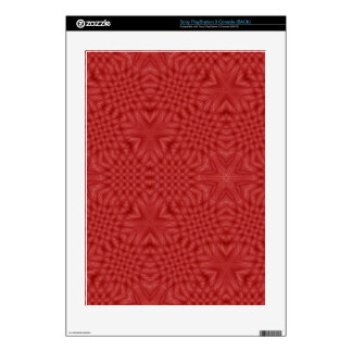 Modelo de madera rojo abstracto consola PS3 calcomanías