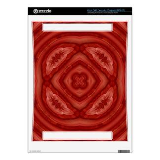 Modelo de madera rojo abstracto consola xbox 360 calcomanía