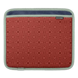 Modelo de madera rojo abstracto fundas para iPads