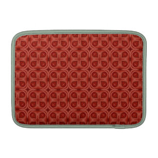 Modelo de madera rojo abstracto fundas MacBook