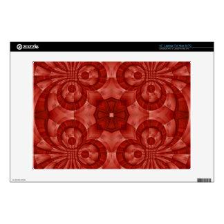 Modelo de madera rojo abstracto portátil skin