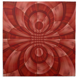 Modelo de madera rojo abstracto servilleta imprimida