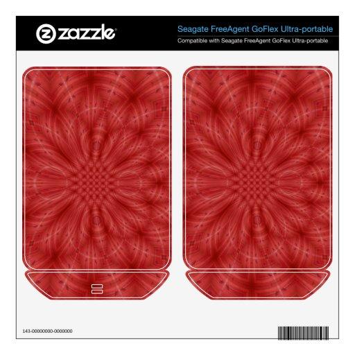 Modelo de madera rojo abstracto FreeAgent GoFlex skins