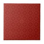 Modelo de madera rojo abstracto tejas  ceramicas