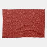 Modelo de madera rojo abstracto toallas de mano