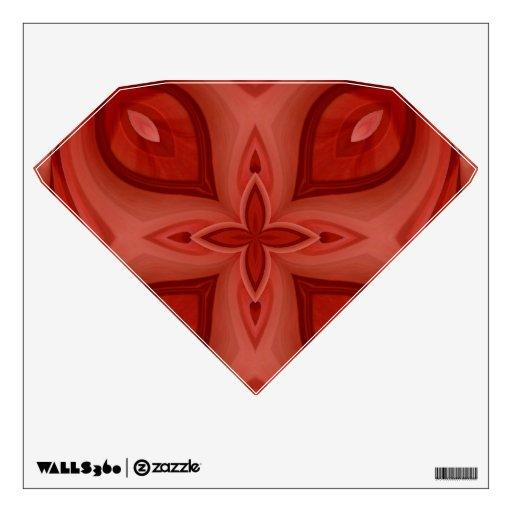 Modelo de madera rojo abstracto vinilo