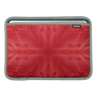 Modelo de madera rojo de la textura fundas macbook air