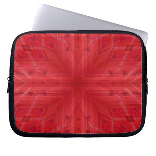 Modelo de madera rojo de la textura mangas portátiles