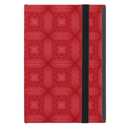 Modelo de madera rojo de la textura iPad mini cobertura