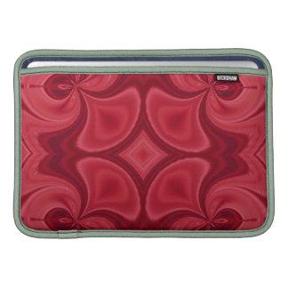 Modelo de madera rojo decorativo fundas macbook air