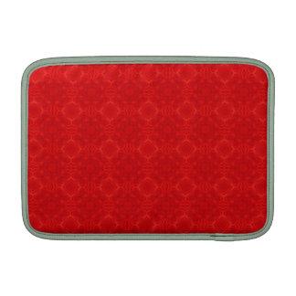 Modelo de madera rojo moderno fundas para macbook air