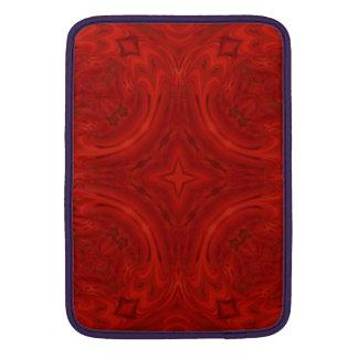 Modelo de madera rojo moderno funda para macbook air