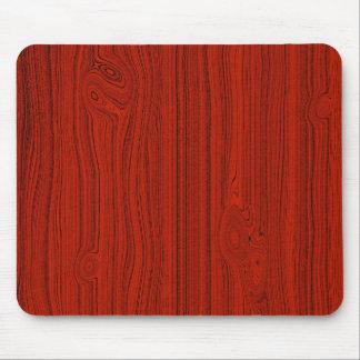 Modelo de madera rojo simple del grano de la mirad tapetes de ratones