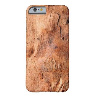 Modelo de madera rústico fresco de la mirada de la funda de iPhone 6 barely there