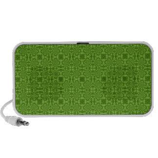 Modelo de madera verde abstracto laptop altavoces