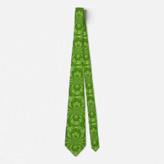 Modelo de madera verde abstracto corbatas