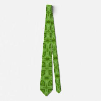 Modelo de madera verde abstracto corbatas personalizadas