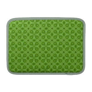 Modelo de madera verde abstracto fundas MacBook