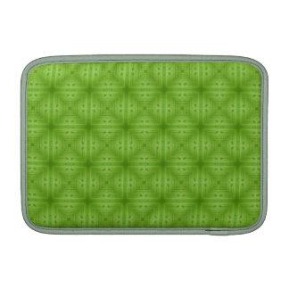 Modelo de madera verde abstracto funda  MacBook