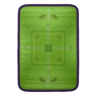 Modelo de madera verde abstracto fundas macbook air