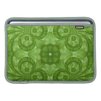 Modelo de madera verde abstracto fundas para macbook air