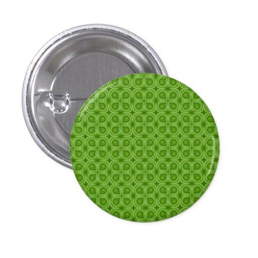 Modelo de madera verde abstracto chapa redonda 2,5 cm