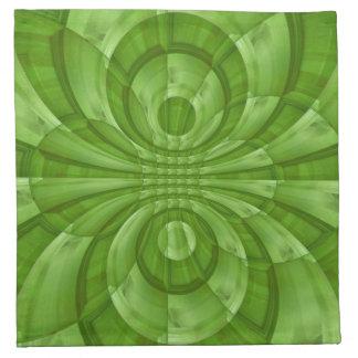 Modelo de madera verde abstracto servilletas de papel
