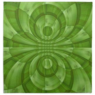 Modelo de madera verde abstracto servilletas imprimidas