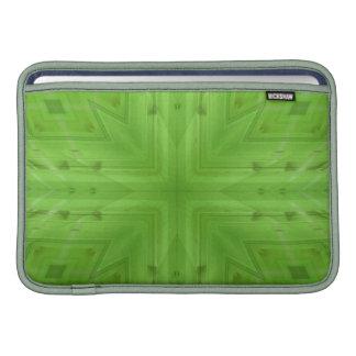 Modelo de madera verde de la textura fundas para macbook air