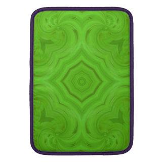Modelo de madera verde moderno fundas macbook air