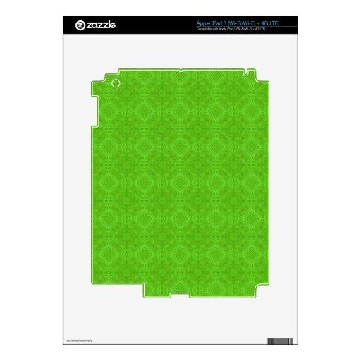Modelo de madera verde moderno iPad 3 skins