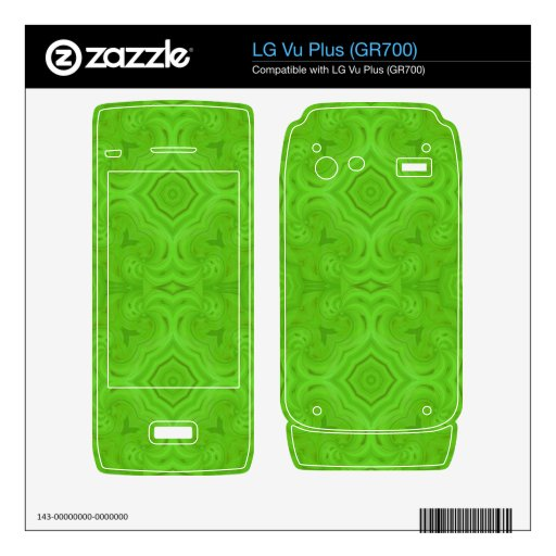Modelo de madera verde moderno LG vu plus skin