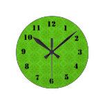 Modelo de madera verde moderno relojes de pared