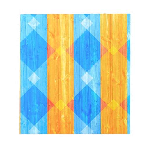 Modelo de madera vibrante del grano bloc de papel