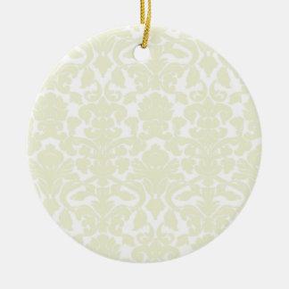 Modelo de marfil lindo del damasco adorno de navidad