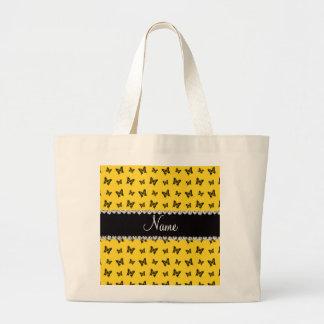 Modelo de mariposa amarillo conocido personalizado bolsa de mano