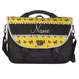 Modelo de mariposa amarillo conocido personalizado bolsas para portatil
