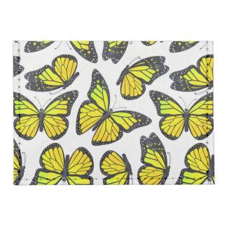 Modelo de mariposa amarillo de monarca tarjeteros tyvek®