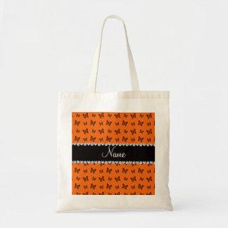Modelo de mariposa anaranjado conocido personaliza bolsas