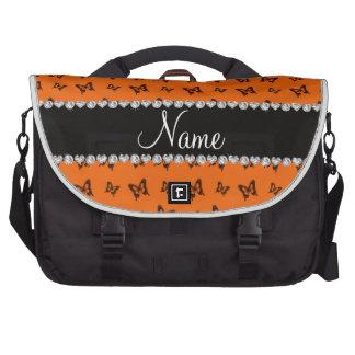 Modelo de mariposa anaranjado conocido personaliza bolsas para portatil