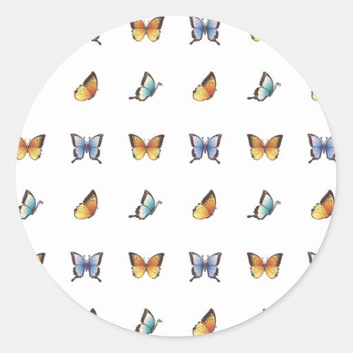 Modelo de mariposa: Arte del vector Pegatina
