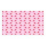Modelo de mariposa bonito en rosa y rojo tarjetas de visita