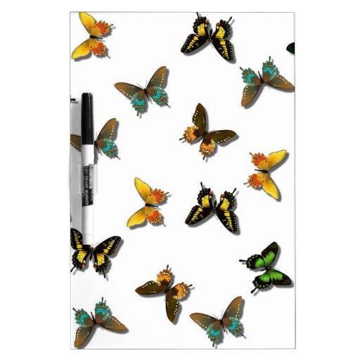Modelo de mariposa bonito tableros blancos