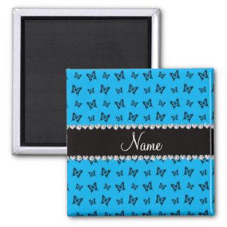 Modelo de mariposa conocido personalizado del azul iman de nevera
